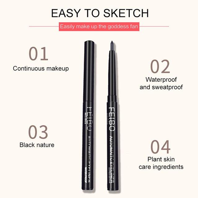 1Pcs Black Liquid Eyeliner Quick-drying Waterproof Long-lasting Eye Liner Not Blooming Eye Pencil Makeup Comestic Tool TSLM1 4