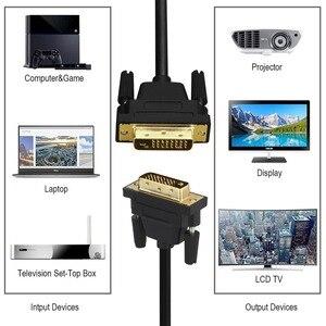 Image 2 - ANNNWZZD DVI kablo DVI erkek DVI DVI D 24 + 1 erkek altın kaplama erkek erkek 1 M 2m 3m 5M TV projektör monitör çift bağlantı kablosu