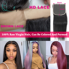 Lace Closure Closure Beautiful Queen, cheveux vierges lisses, 4x4 5x5 6x6 7x7, HD, cheveux bruts indiens, pre-plucked, avec Baby Hair, sans colle