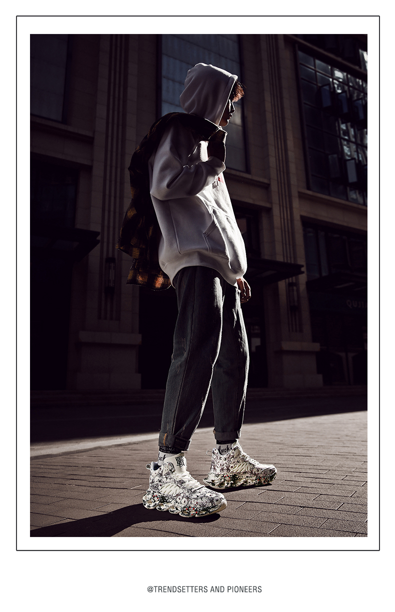 Ha4d5427cc60b414a91f79194b3c0b5b5k Fashion Men's Hip Hop Street Dance Shoes Graffiti High Top Chunky Sneakers Autumn Summer Casual Mesh Shoes Boys Zapatos Hombre