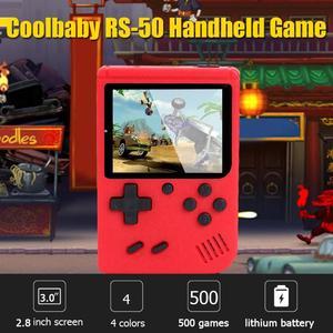 Image 3 - RS 50 Video oyunu konsolu dahili 500 oyunları elde kullanılır oyun konsolu Retro Tetris nostaljik oyun oyuncu çocuk için en iyi hediye