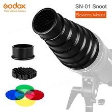 GODOX SN 01 Bowens zamontuj duże zdjęcie Snoot błyskanie studyjne oprawy oświetleniowe akcesoria do Godox s type DE300 SK400 II