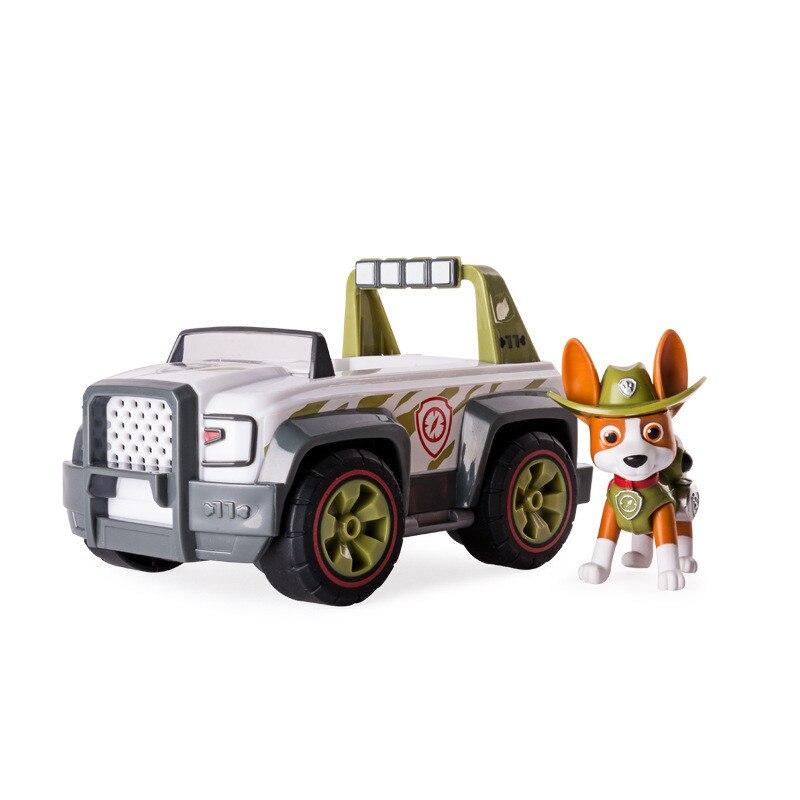 С принтом из мультфильма «Щенячий патруль набор игрушек для Everest трекер фигурку собаки из мультфильма «Щенячий патруль» для дня рождения с рисунком из аниме Рисунок патруль Paw patrulla canina, игрушка в подарок - Цвет: tracker