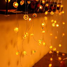 30 LEDs Cute Pumpkin String Light with 8 Flicker Modes for Fall Halloween Q84D for LED