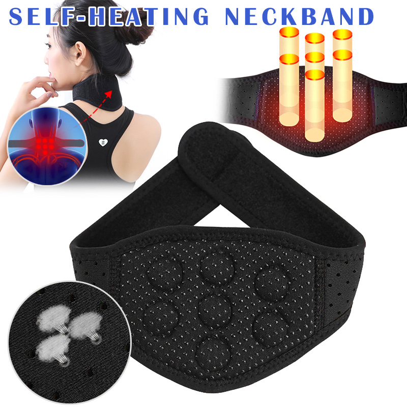 Magnetic Tourmaline Belt Back Neck Lumbar Shoulder Self-heating Therapy Posture Health Care Pain Relief Support Strap EK-New
