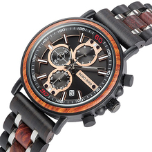 лучшая цена Men Watch BOBO BIRD Luxury Retro Wooden Men's Watches Auto Date Chronograph Quartz Wristwatch New Brand relogio masculino K-S18