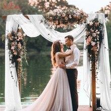 チュールロール 48 センチメートル * 5 メートル薄手のクリスタル結婚式の装飾のための装飾生地糸チュールロール誕生日イベント diy パーティー用品 5Z