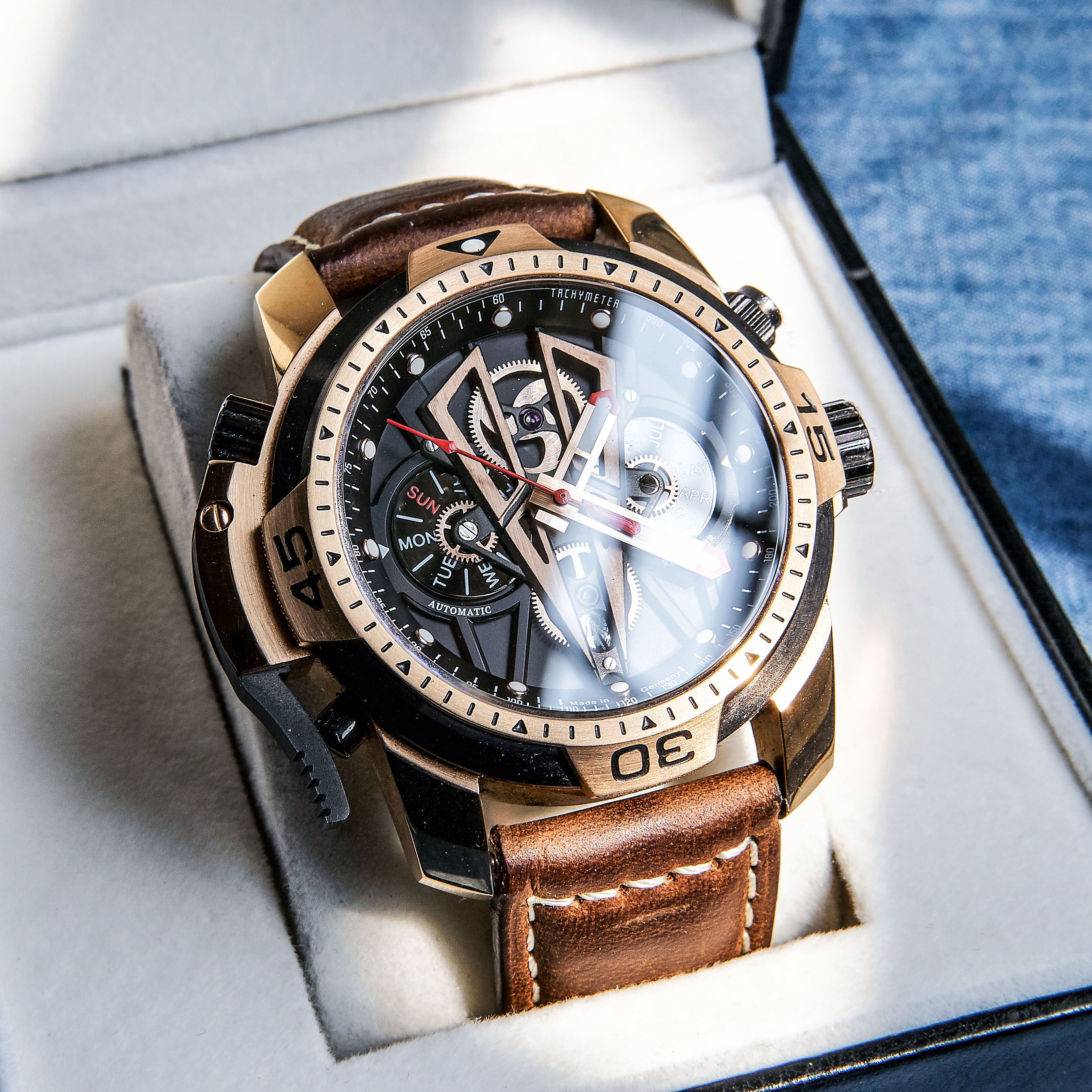 Reef Tiger/RT Men's Watches Top Brand Luxury Automatic Mechanical Men Sport Wristwatch Rose Gold Reloj Hombre RGA3591 1