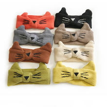 Bandeau cheveux chat pour enfants bandeau mignon pour bébé tricoté bandeau cheveux laine dessin animé enfants Turban bébé accessoires