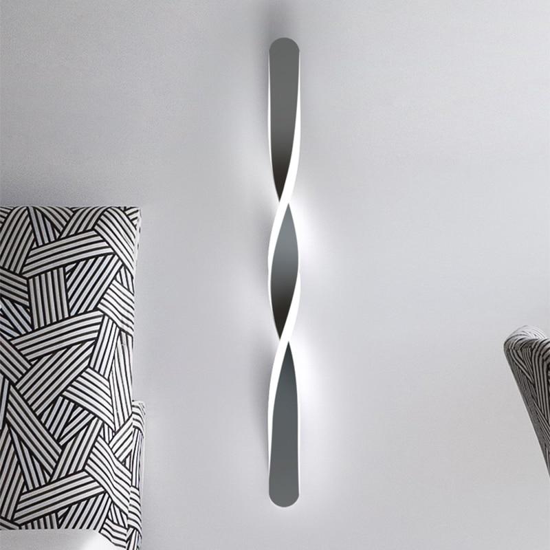 Современный минималистичный светодиодный настенный светильник, лампа черного цвета для гостиной, спальни, прикроватного столика, коридора...