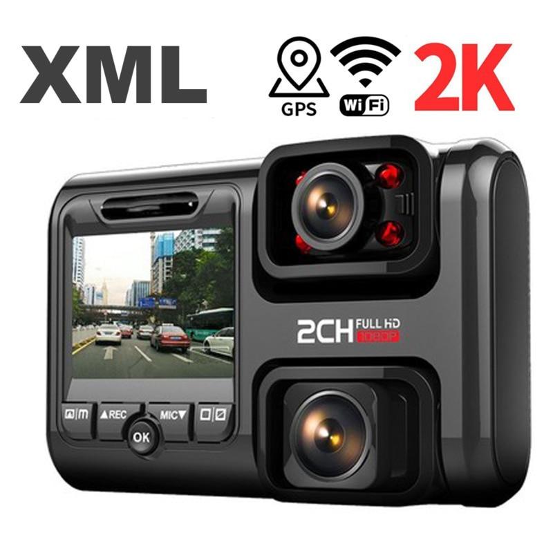 2K 2160P Wifi Gps Dash Cam Dual Lens Auto Dvr Nachtzicht Auto Camera Verborgen Loop Recording Dvr sony Sensor Recorder Camcorder