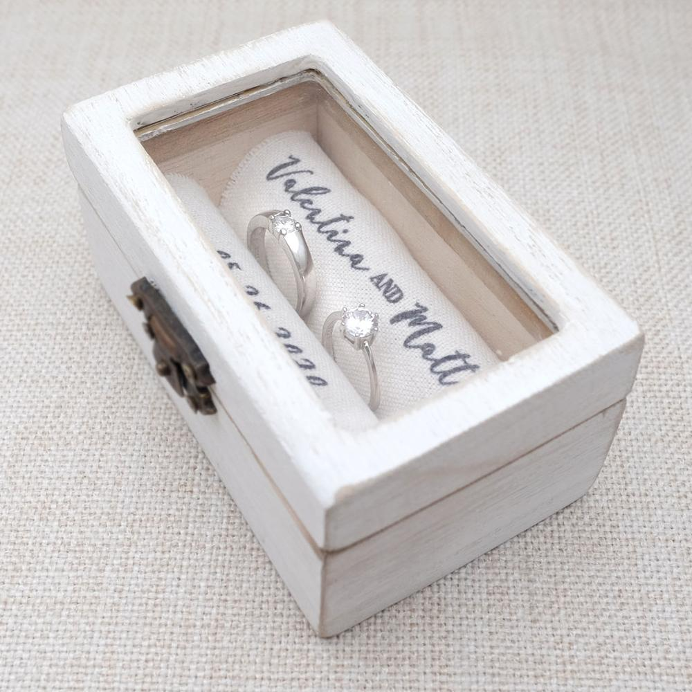 Personalized Wedding Ring Box Rustic Wooden Ring Holder Custom Ring Bearer Box,Box,Engagement Box