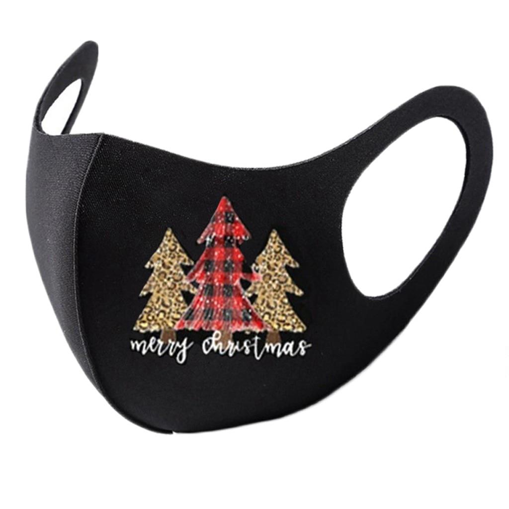 8pc colorido natal máscara facial festa máscara unissex máscaras christms santa elk impressão à prova de vento lavável papai noel rosto shilled 6