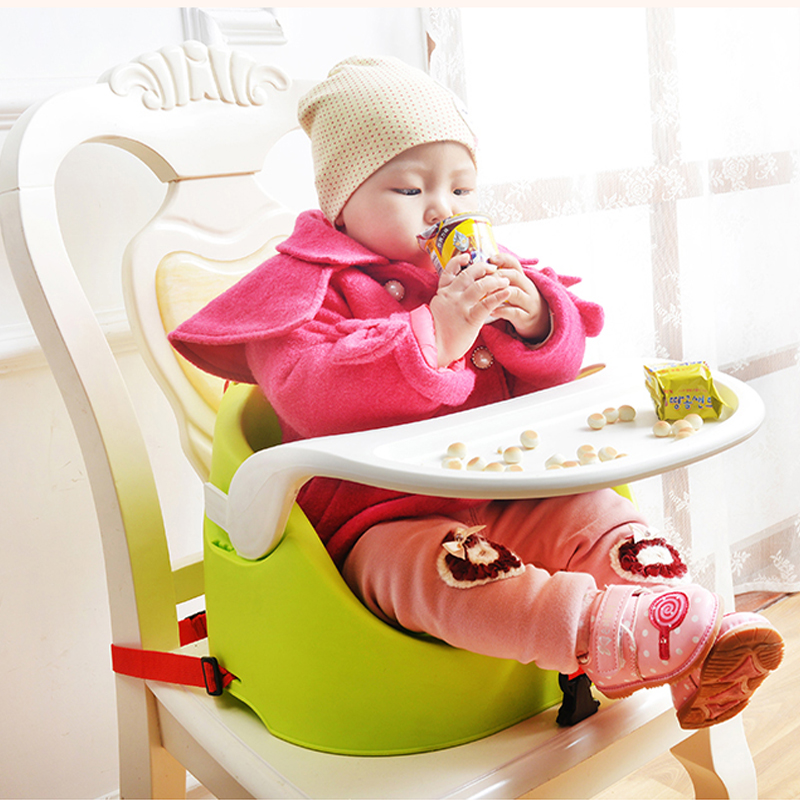 Foldable Portable Adjustable Baby Kids Booster Seats Highchair High Chairs Dinner Chairs Feeding Chairs For 6M-36M Baby