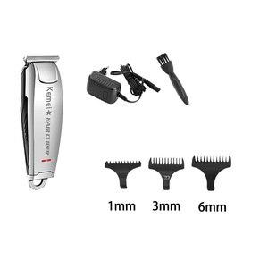 Image 4 - Kemei hassas profesyonel elektrikli saç kesme makinesi 0mm kel kafalı şarj edilebilir saç düzeltici erkekler için sakal düzeltici berber KM 2812