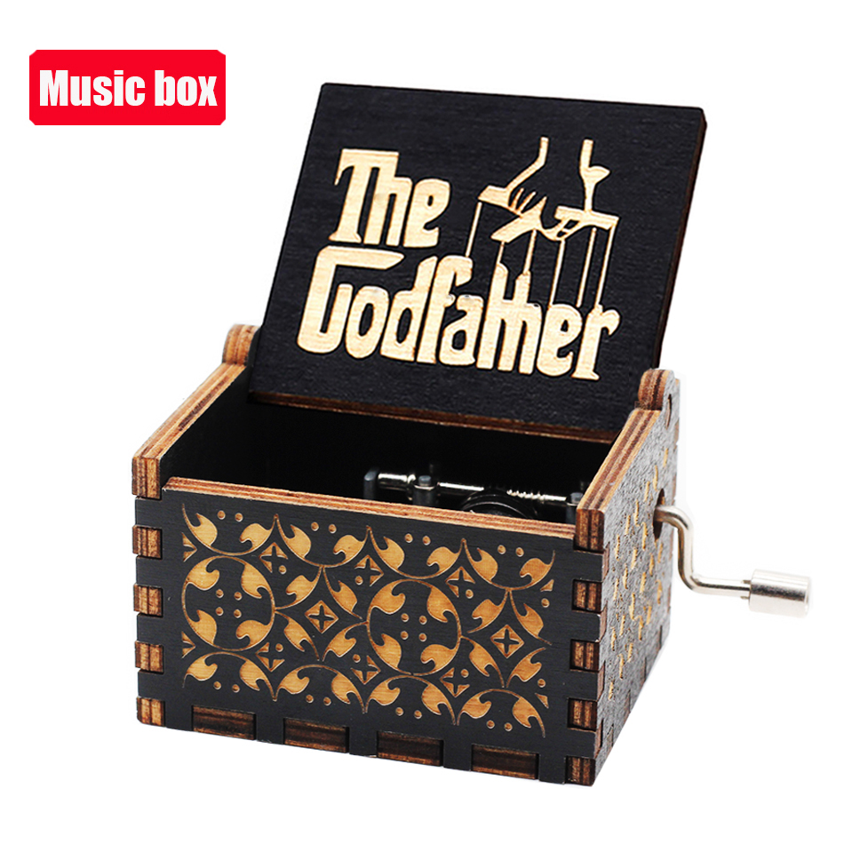 NEW Music Box QUEEN Lots Of Styles Jurassic Park Wooden Hand Christmas Birthday Valentine's Day Gift New Year Gift 3