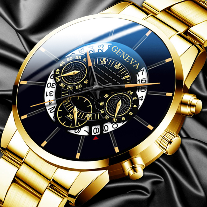 Fashion Mens Watches Male Clock Luxury Quartz Watch Man Casual Stainless Steel Business Calendar Wrist Watch Sports Watches