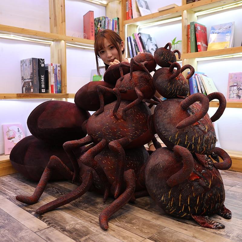 Giant Siz 45/70/120cm Lifelike ant Plush toy soft stuffed doll animal Cartoon pillow bed office decor trick gift for child kid