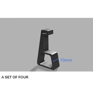 Image 5 - 4 adet oyun ana bilgisayar braketi soğutma yatay versiyon braketi PS4 Slim Pro oyun makinesi taban düz monte braketi aksesuarları