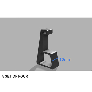 Image 5 - Soporte de refrigeración Horizontal para PS4 Slim Pro, Base de máquina de juego, accesorios de montaje plano, 4 Uds.