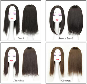 Image 5 - Women Hair Topper Piece Synthetic Hair 3 Clips In one piece Hair Extension long straight High Temperature Fiber