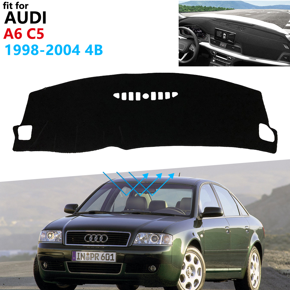 Dashboard Cover Protective Pad for Audi A6 C5 1998~2004 4B Car Accessories Dash Board Sunshade Anti-UV Carpet S-line 2002 2003 image
