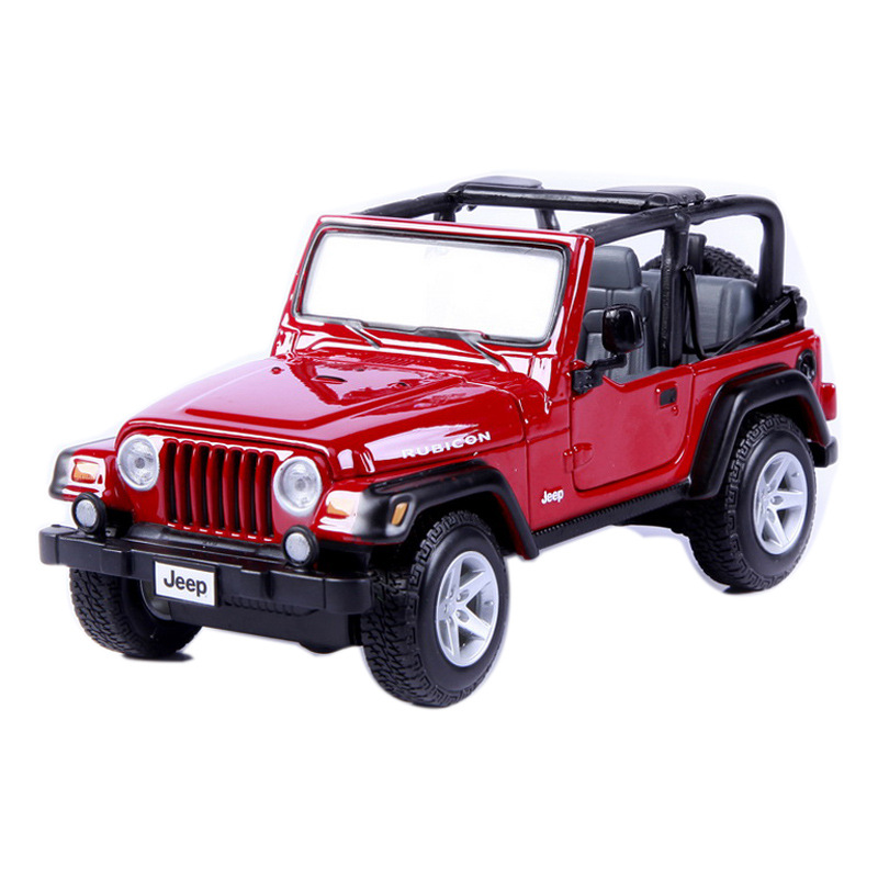 Jeep Wrangler Rubicon 1:18 Alloy Diecast Model Cars Static Simulation Mini Car Collection Toys 1/18 Miniature Cars Metals