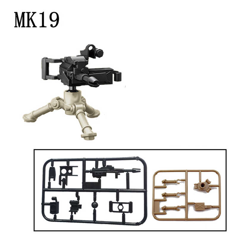 Legoing militar swat arma blocos de construção armas pacote cidade polícia soldado construtor série ww2 acessórios do exército moc tijolo brinquedos