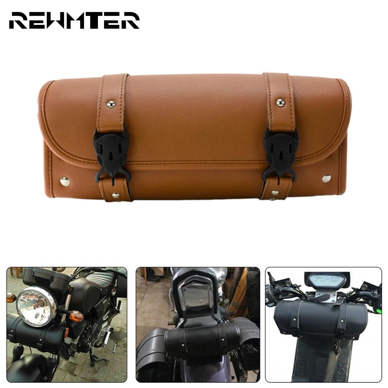 Luggage Tool Bag Saddlebag For Harley Sportster Softail Dyna Touring Chopper NEW