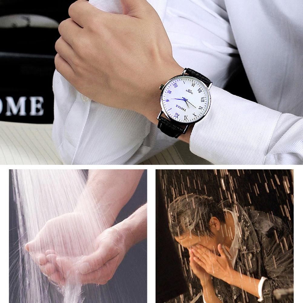 Business Men Women Wristwatch Sweat-proof Faux Leather Pointer Fashion Couple Quartz Watch Lover's Watches Gifts Zegarek Damski