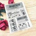Хит продаж, прозрачный штамп с текстом в коробке, силиконовый альбом для скрапбукинга «сделай сам», изготовление открыток
