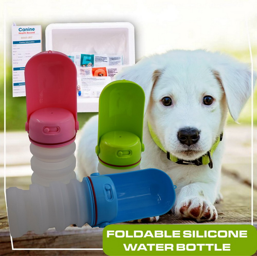 foldable sicicone Pet Dog Water Bottle For Small Large Dogs Travel Puppy Cat Drinking Bowl Bulldog Water Dispenser Feeder02 in Dog Feeding from Home Garden