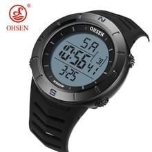 OHSEN Digital LED Men sport Watch Stopwatch Fashion black 50M Waterproof silicone bracelet Military wristwatch relogio masculino все цены