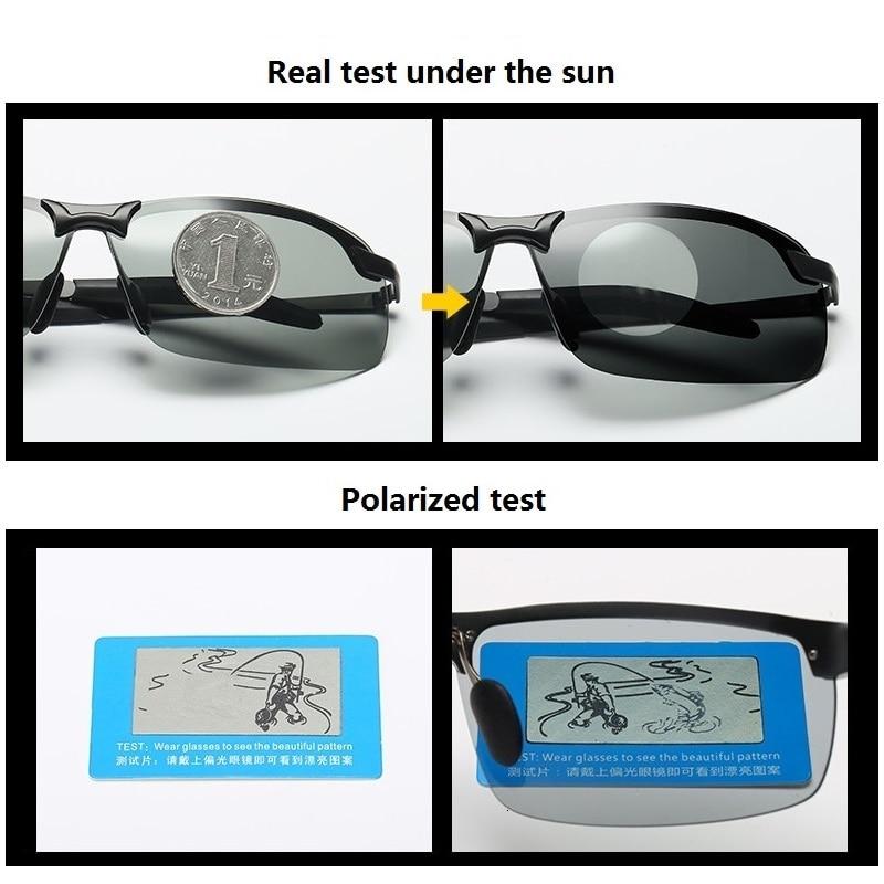 Occhiali da sole fotocromatici uomo polarizzati guida camaleonte occhiali uomo cambia colore occhiali da sole visione notturna occhiali da guida 3