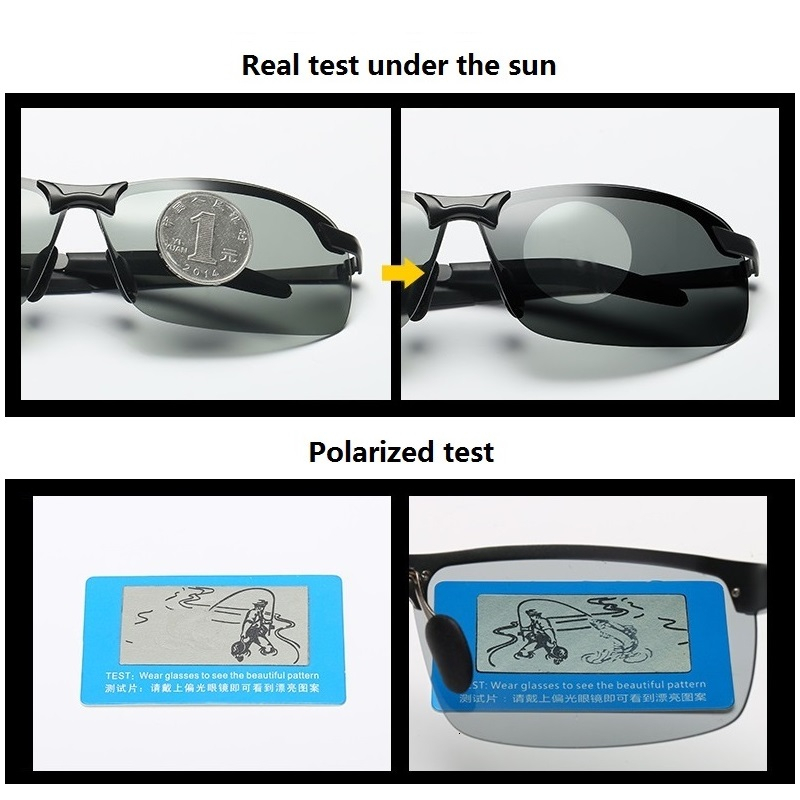 Photochromic Sunglasses Men Polarized Driving Chameleon Glasses Male Change Color Sun Glasses Day Night Vision Driver's Eyewear 2
