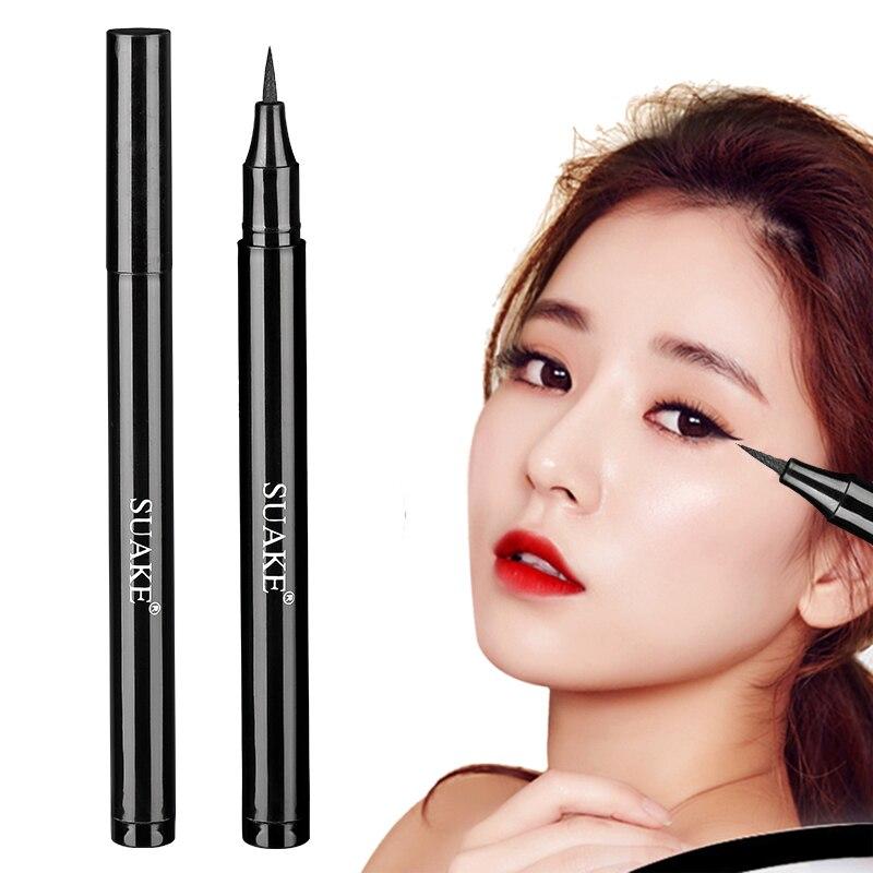 Perfilador de ojos negro, lápiz líquido, belleza, resistente al agua, larga duración, no florece, delineador líquido para ojos, lápiz de maquillaje TSLM1