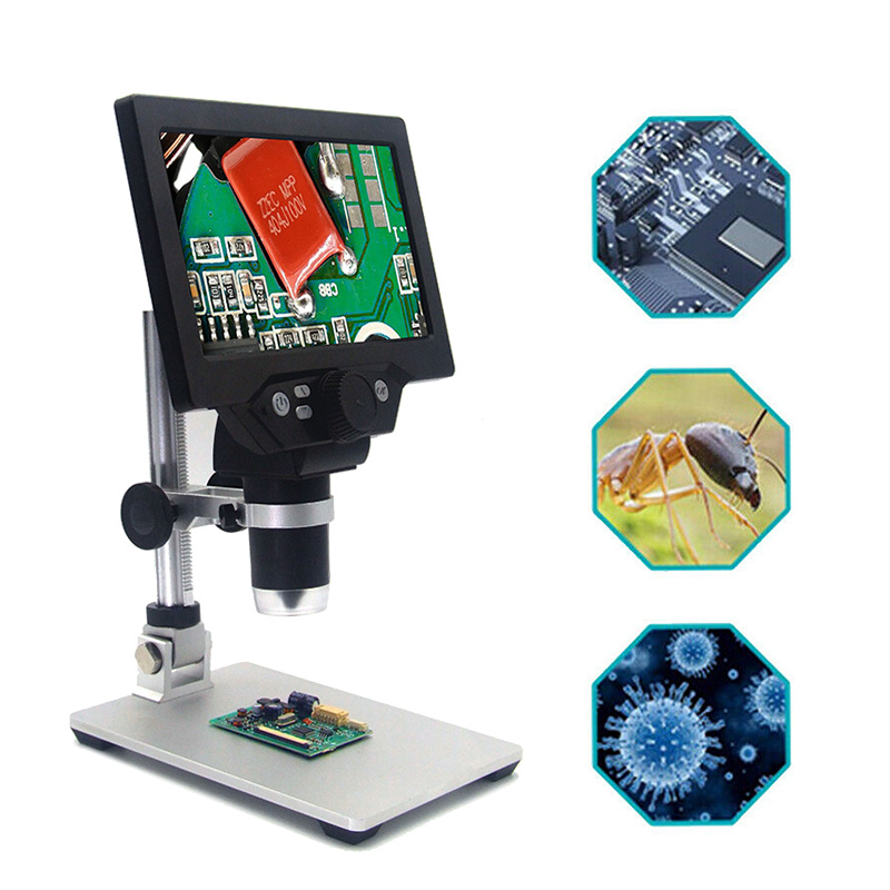 """PINTUDY MUSTOOL G1200 12MP 7"""" HD Digital Microscope 1-1200X Continuous Zoom Magnifier Optical Instruments Digital Microscopes"""
