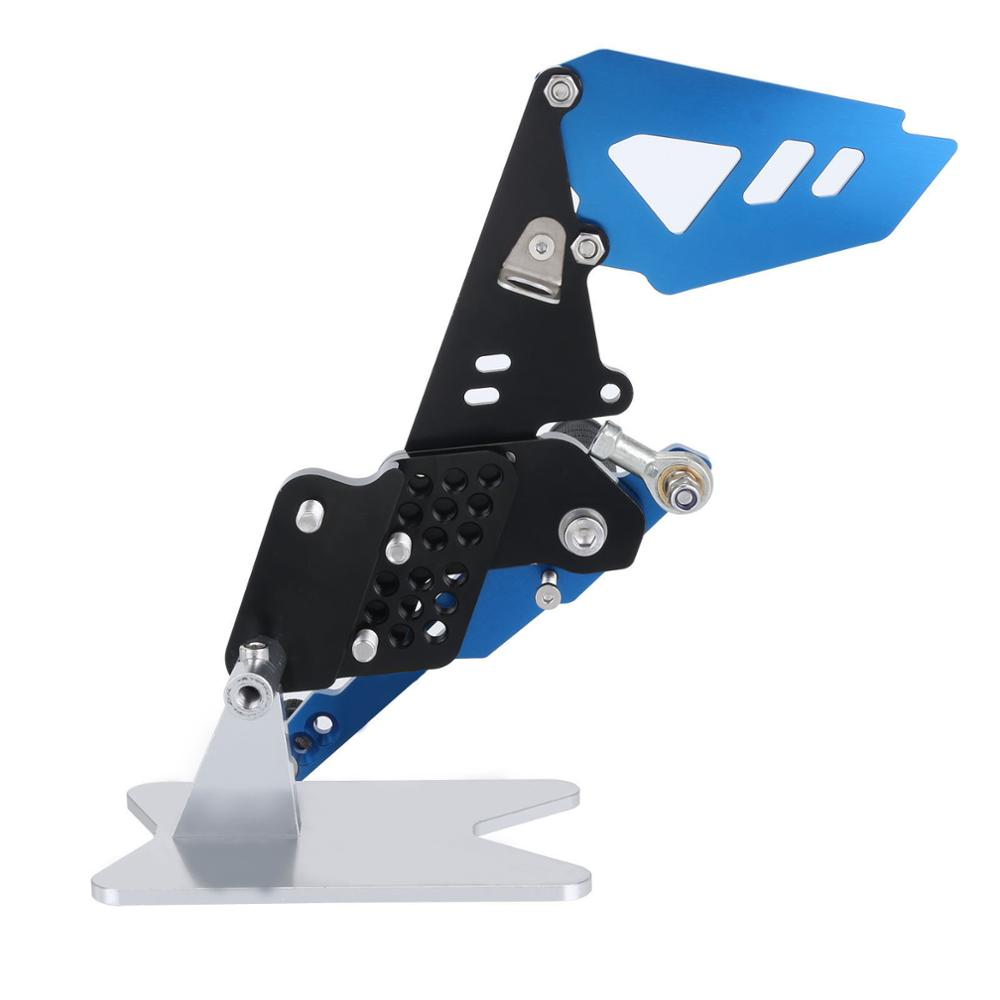 Black B style Blue Motorcycle Footrest Rear Foot Pedal Pegs Set For Suzuli GSX R 600 750 GSX R GSXR D40 in Foot Rests from Automobiles Motorcycles