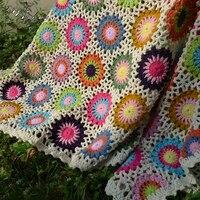 Traditional hand woven crochet blanket handmade table cloth, table mat, table flag, sofa mat, carpet, floating window mat DIY