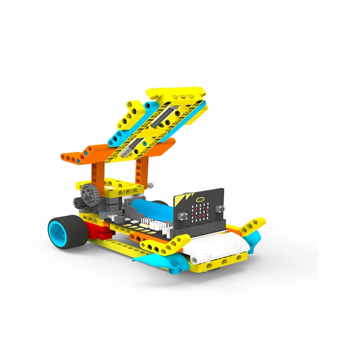 Programmable Intelligent Robot Building Block Car Kit Various Shapes Steam Education Car for Micro:bit(Include Micro:bit Board) 2