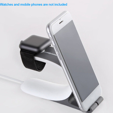 Universal ABS For Phone 2 IN 1 Mini Lightweight Useful Durable Holder For Apple Watch Charging Holder Islamabad