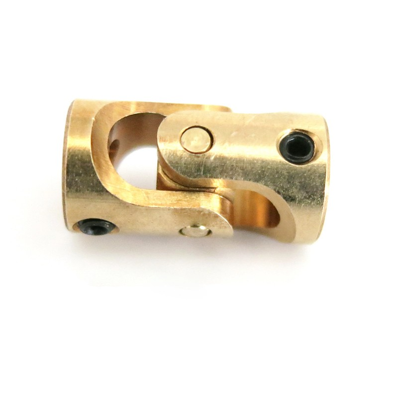 1PCS Mini Coupling Brass Universal Joint 3mmx3mm Diameter 7mm Length 13mm Model Ship Coupler Gimbal