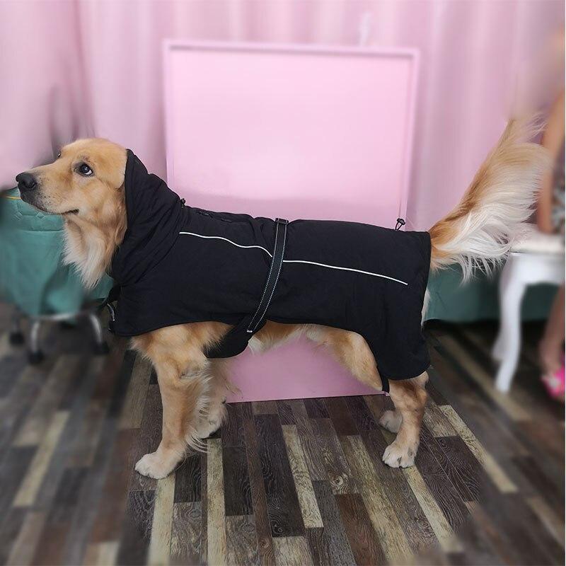 Зимние комбинезоны для собак, теплые Светоотражающие пальто для собак, лыжная куртка, водонепроницаемая одежда для собак, функциональный дизайн для S средних и больших собак-2