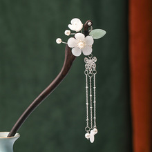 Chinese Hairpins Clips Tassel Flower Pearls Chopsticks Hair Sticks Wooden Hair Forks Jewelry for Women Hair Styling FORSEVEN