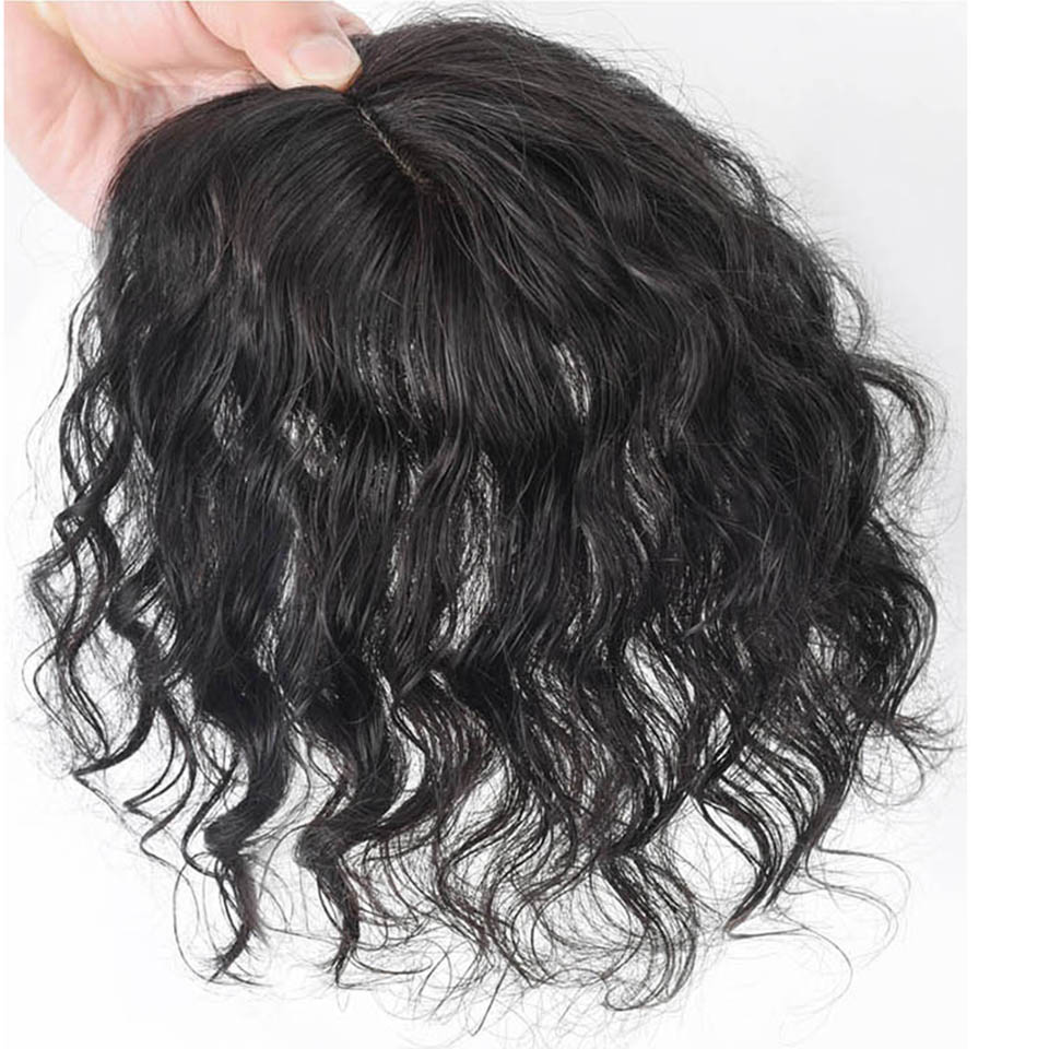 HOUYAN  fluffy short curly  refills on the head, curly human females covering white  sparse increase in