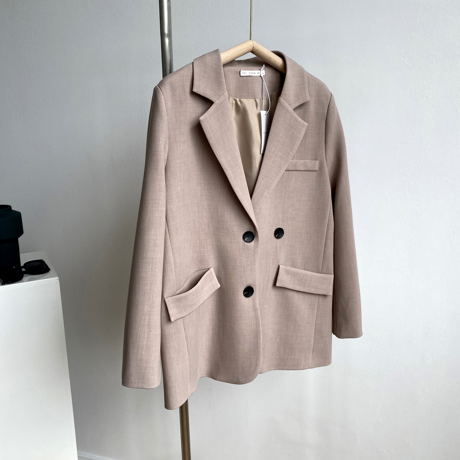 Casual Single-breasted Ladies Loose Blazer Autumn Outerwear Notched Collar Long Sleeve Female Suit Jackets 2020 vs462