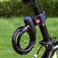 Противоугонный спиральный стальной трос, универсальный защитный замок для велосипеда, катушка из нержавеющей стали, Аксессуары для велоси...