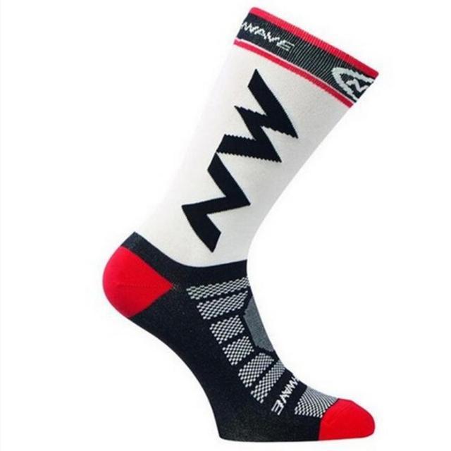 Meias esportivas para corrida e ciclismo, 1 par de meias respiráveis para homens e mulheres, escalada, acampamento, futebol, basquete 3