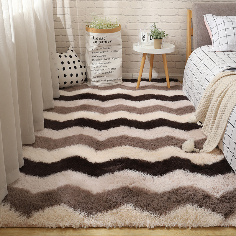 Fluffy Tie Dye Carpets For Bedroom Decor Modern Home Floor Mat Large Washable Nordica in the Living Room Soft White Shaggy Rug 13