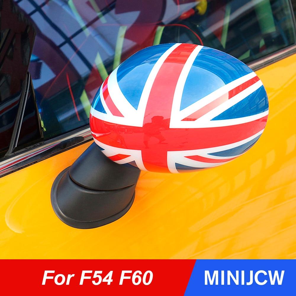 Auto Styling Tür Rückspiegel Abdeckung Gehäuse Shell Aufkleber Für Mini Cooper One S JCW F54 Clubman F60 Countryman zubehör